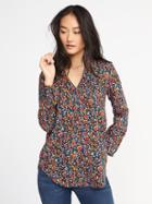 Old Navy Womens Relaxed Hi-lo Tunic For Women Crazy Multi Floral Size L