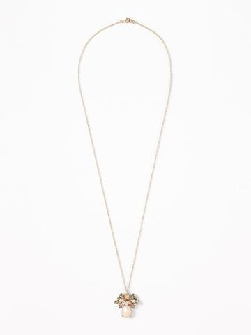 Old Navy Womens Cluster Pendant Necklace For Women Multi V Size One Size