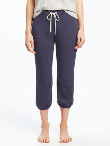 Old Navy French Terry Cropped Sleep Joggers For Women - Over The Moon