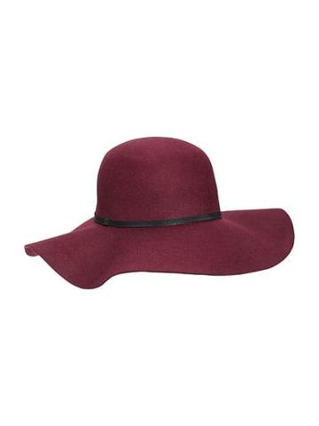 Old Navy Floppy Felt Hat For Women - Wine Purple