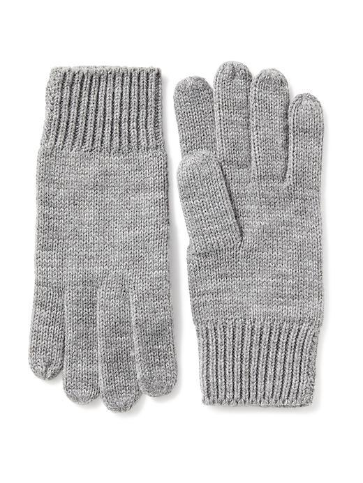 Old Navy Sweater Knit Gloves For Women - Med Hthr Gray