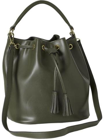 Old Navy Womens Faux Leather Bucket Bag Size One Size - Asparagus