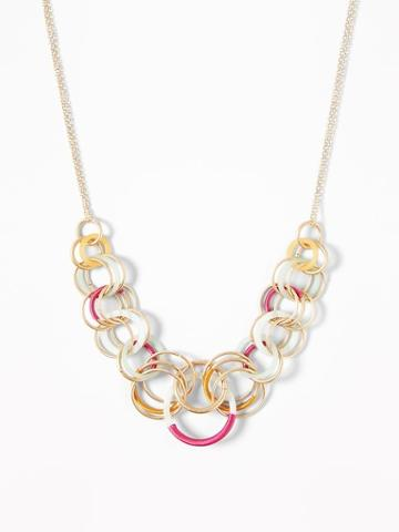 Circle-pendants Chain Necklace For Women