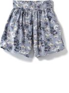 Old Navy Floral Coulotte Shorts - Blue Floral
