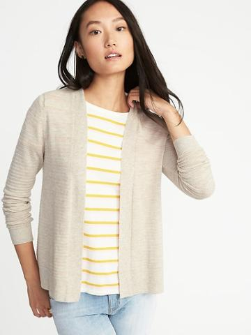 Old Navy Womens Womens Textured Open-front Cropped Sweater Palomino Size Xl