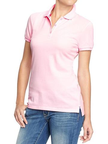 Old Navy Womens Basic Polos - Preppy Pink