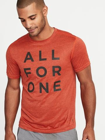 Old Navy Mens Go-dry Graphic Performance Tee For Men All For One Size Xs