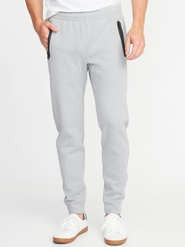 Old Navy Mens Built-in Flex Joggers For Men Light Gray Heather Size M