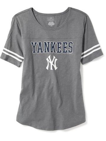 Old Navy Mlb Varsity Style Tee For Women - N.y. Yankees