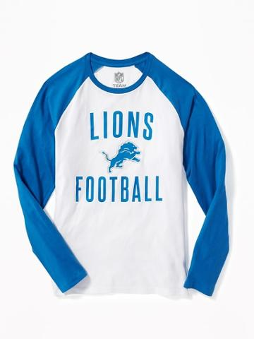 Old Navy Nfl Team Raglan Sleeve Tee For Men - Lions