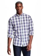 Old Navy Slim Fit Plaid Shirt For Men - Apple A Day