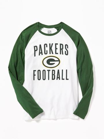 Old Navy Nfl Team Raglan Sleeve Tee For Men - Packers