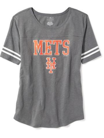Old Navy Mlb Varsity Style Tee For Women - New York Mets