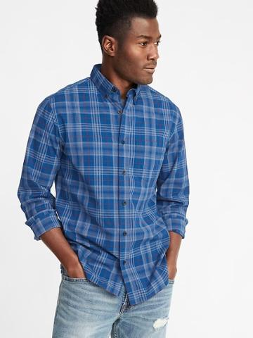 Old Navy Mens Regular-fit Built-in Flex Everyday Shirt For Men Ahoy Navy Size S