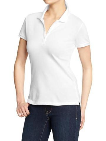 Old Navy Womens Basic Polos - Bright White