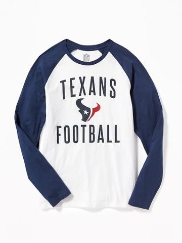 Old Navy Nfl Team Raglan Sleeve Tee For Men - Texans