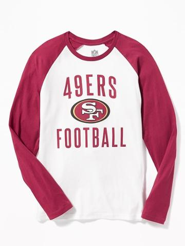 Old Navy Nfl Team Raglan Sleeve Tee For Men - 49ers