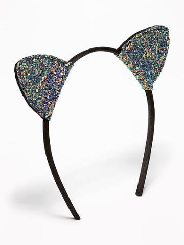 Glitter Cat's-ear Headband For Women
