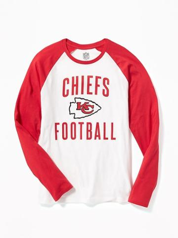 Old Navy Nfl Team Raglan Sleeve Tee For Men - Chiefs