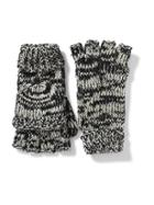 Old Navy Honeycomb Knit Convertible Gloves For Women - Black Marl