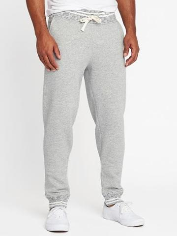Old Navy Tipped Fleece Joggers For Men - Heather Gray