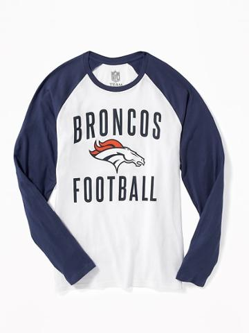 Old Navy Nfl Team Raglan Sleeve Tee For Men - Broncos