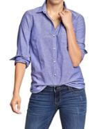 Old Navy Womens Oxford Shirts - Ultra Violet