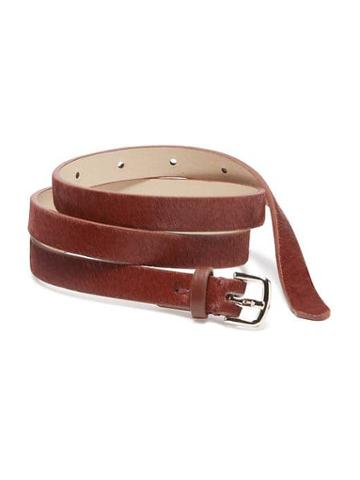 Old Navy Skinny Calf Hair Belt For Women - Hungarian Paprika