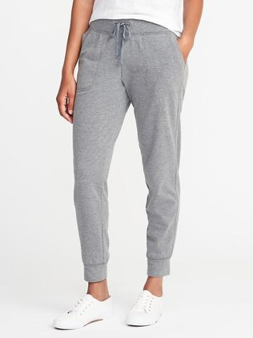 Old Navy Go Warm French Terry Joggers For Women - Heather Gray