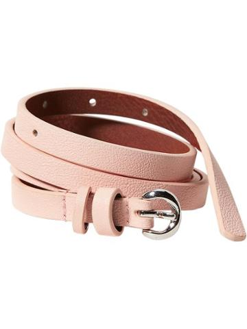 Old Navy Womens Skinny Faux Leather Belts Size L/xl - Chastity Pink