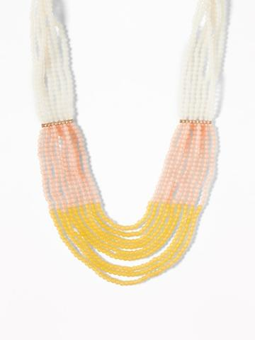 Multicolored Beaded Statement Necklace For Women