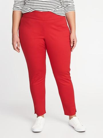 Old Navy Womens High-rise Pull-on Plus-size Pants Robbie Red Size 16