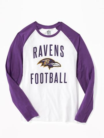 Old Navy Nfl Team Raglan Sleeve Tee For Men - Ravens
