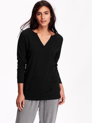 Old Navy Womens Split Neck Jersey Tunics Size L - Blackjack
