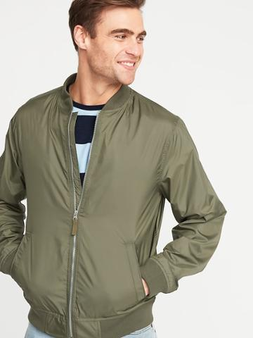 Lightweight Water-resistant Bomber Jacket For Men