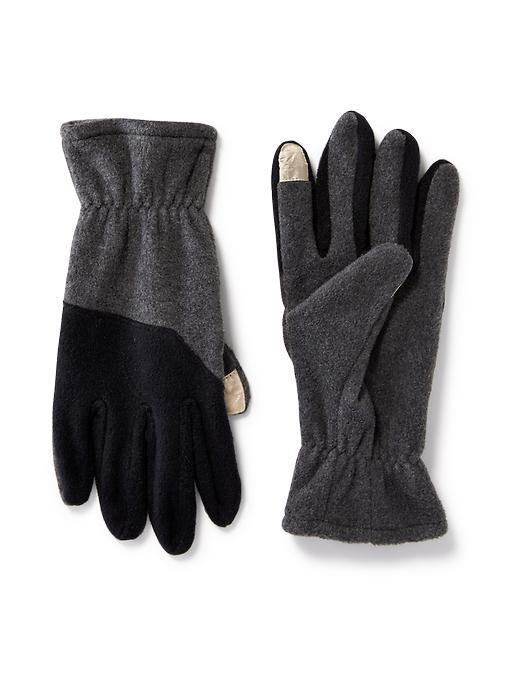 Old Navy Performance Fleece Gloves For Men - Heather Grey