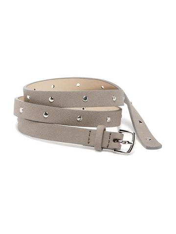 Old Navy Studded Faux Suede Skinny Belt For Women - New Taupe
