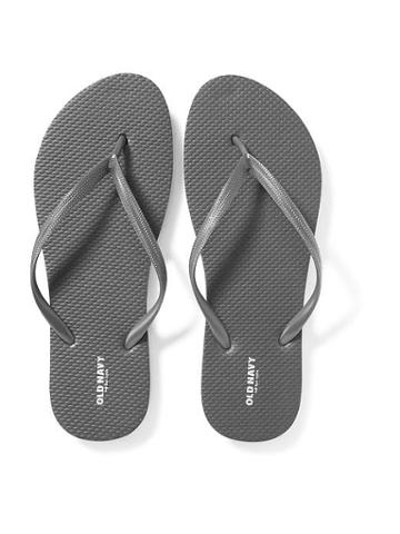 Old Navy Womens Classic Flip-flops For Women Magnum Gray Size 6
