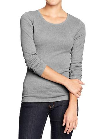Old Navy Old Navy Womens Perfect Tees - Gray Stone