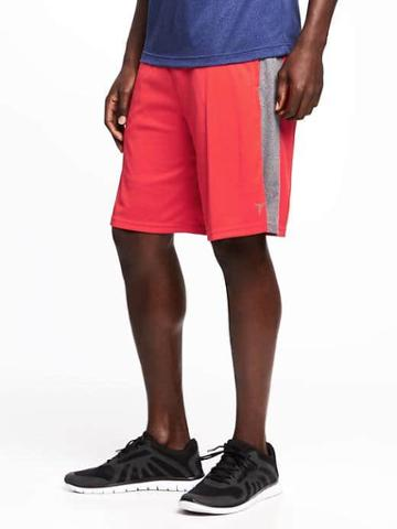 Old Navy Go Dry Training Shorts For Men 10 - Red Print