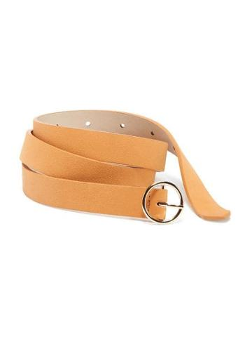 Old Navy Sueded O Ring Buckle Belt For Women - Mustard