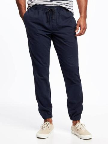 Old Navy Twill Joggers For Men - Navy Blue