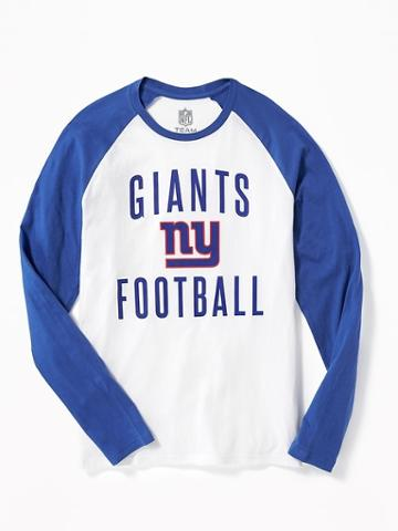 Old Navy Nfl Team Raglan Sleeve Tee For Men - Giants
