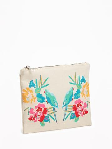 Old Navy Printed Cosmetic Bag - Parrots