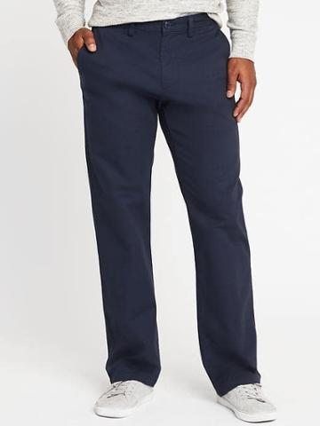 Old Navy Loose Ultimate Built In Flex Khakis For Men - Classic Navy