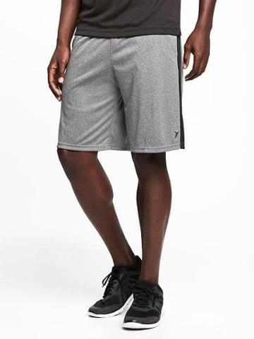 Old Navy Go Dry Training Shorts For Men 10 - Gray Print