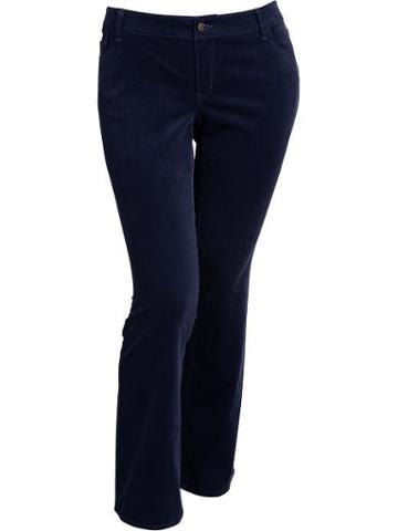 Old Navy Old Navy Womens Plus The Rockstar Boot Cut Cords - In The Navy