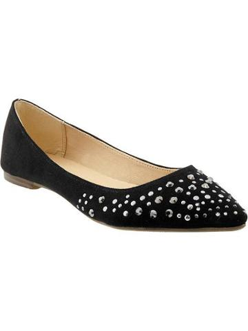 Old Navy Old Navy Womens Pointed Stud Flats - Black