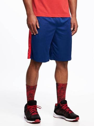 Old Navy Go Dry Training Shorts For Men 10 - Navy Blue Print