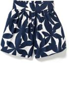 Old Navy Patterned Coulotte Shorts - Blue Floral
